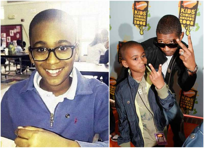 Usher's children - step-son Kile Glover
