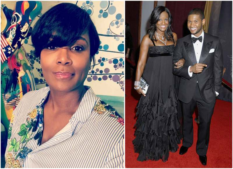 Usher's family - ex-wife Tameka Foster