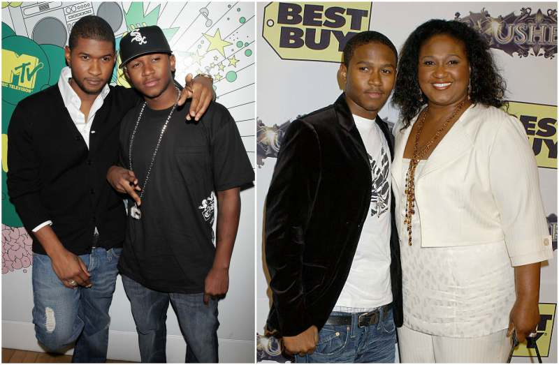 Usher's siblings - half-brother James Antwon 'J-Lack' Lackey