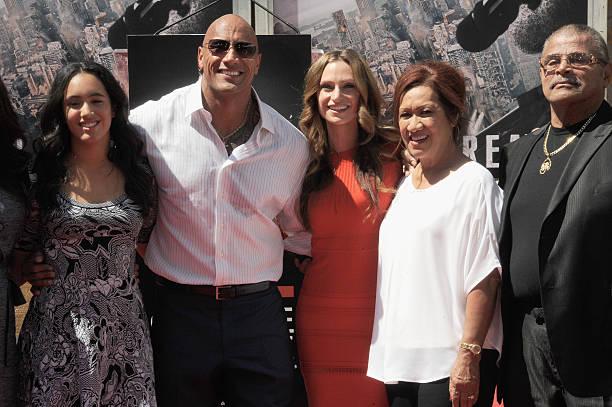 Dwayne The Rock Johnson Family Wwe Champion Wrestler And