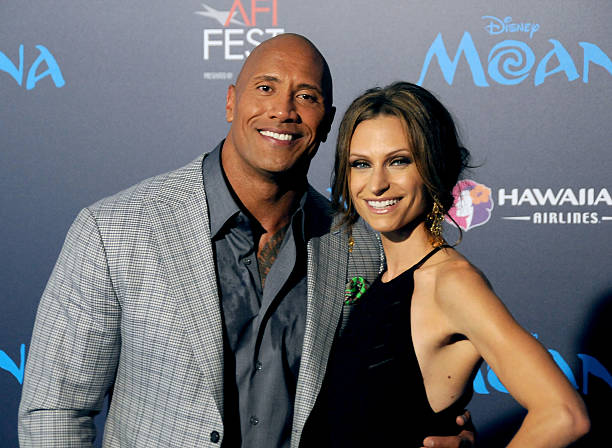 Dwayne Johnson's family - wife Lauren Hashian