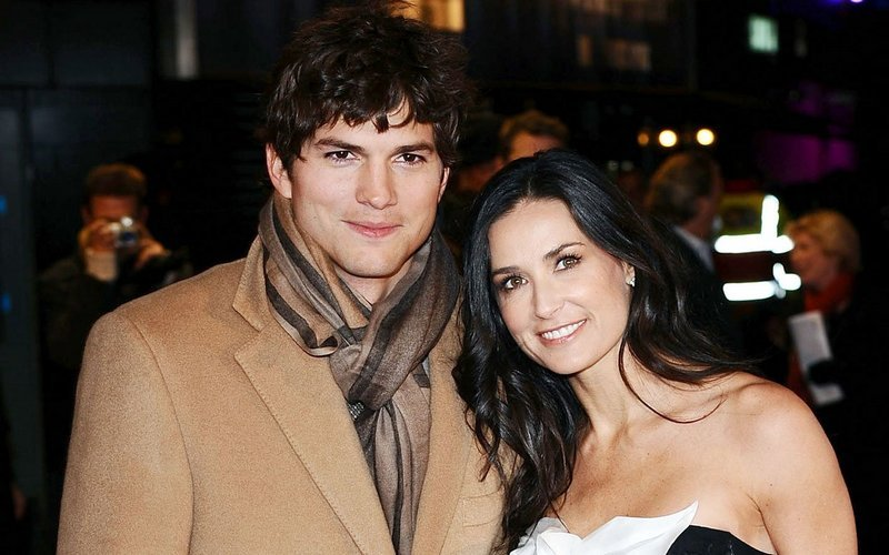Demi Moore's family - ex-husband Ashton Kutcher