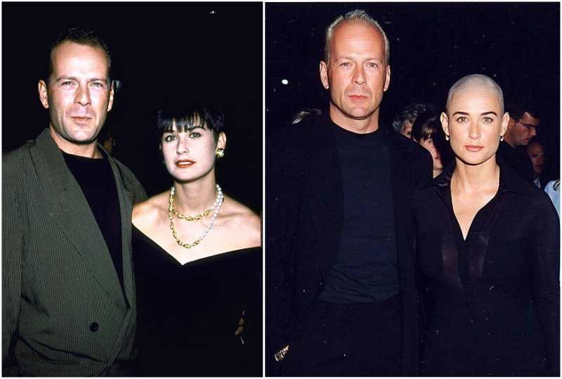 Demi Moore's family - ex-husband Bruce Willis