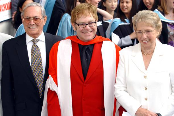 Sir Elton John's family - mother Sheila Farebrother and step-father