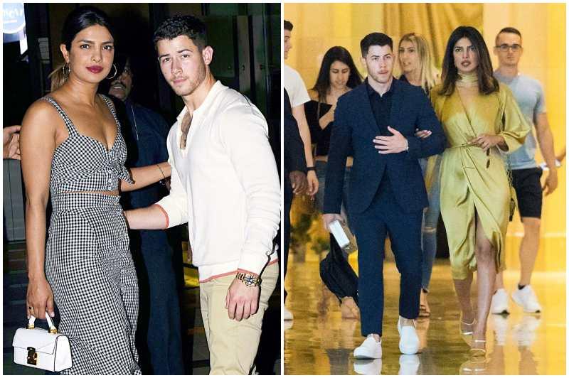 Nick Jonas' family - fiancee Priyanka Chopra