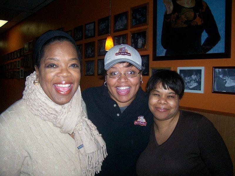 Oprah Winfrey's family - niece Alisha Hayes and half-sister Patricia Lofton