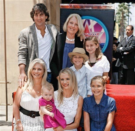 Cameron Diaz's family - mother, sister Chimene Diaz with husband and kids