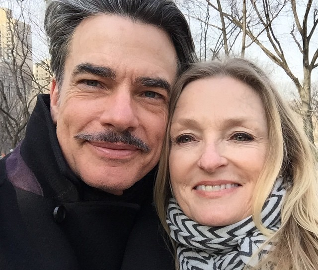 Peter Gallagher's family - wife Paula Harwood