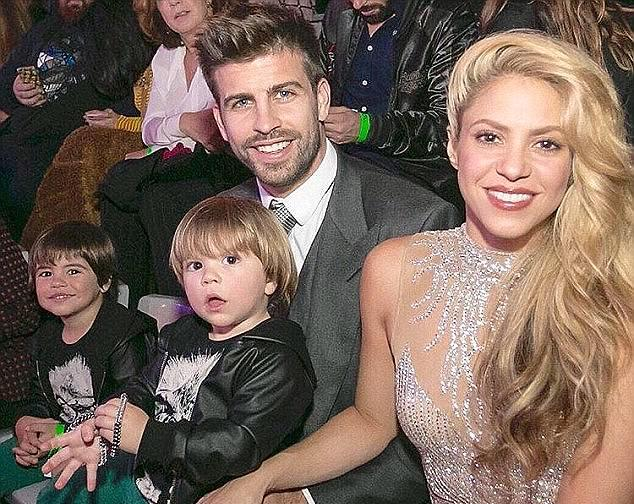 Shakira's family - husband and kids