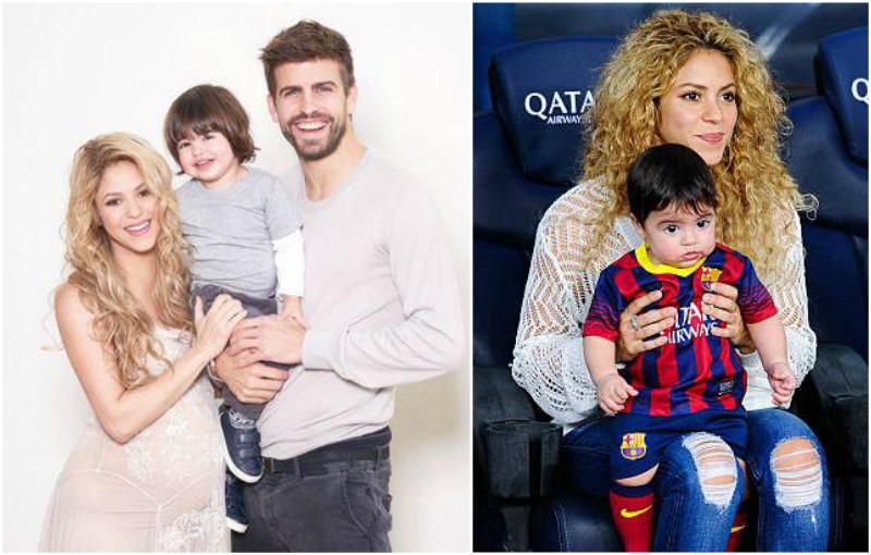 Shakira's children - son Milan Pique Mebarak