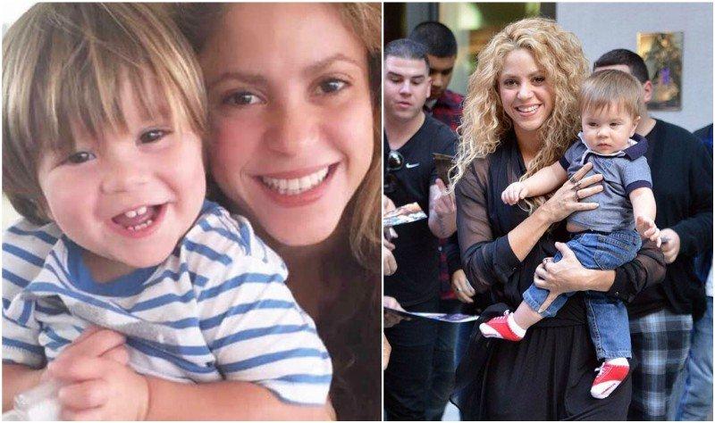 Shakira's children - son Sasha Pique Mebarak