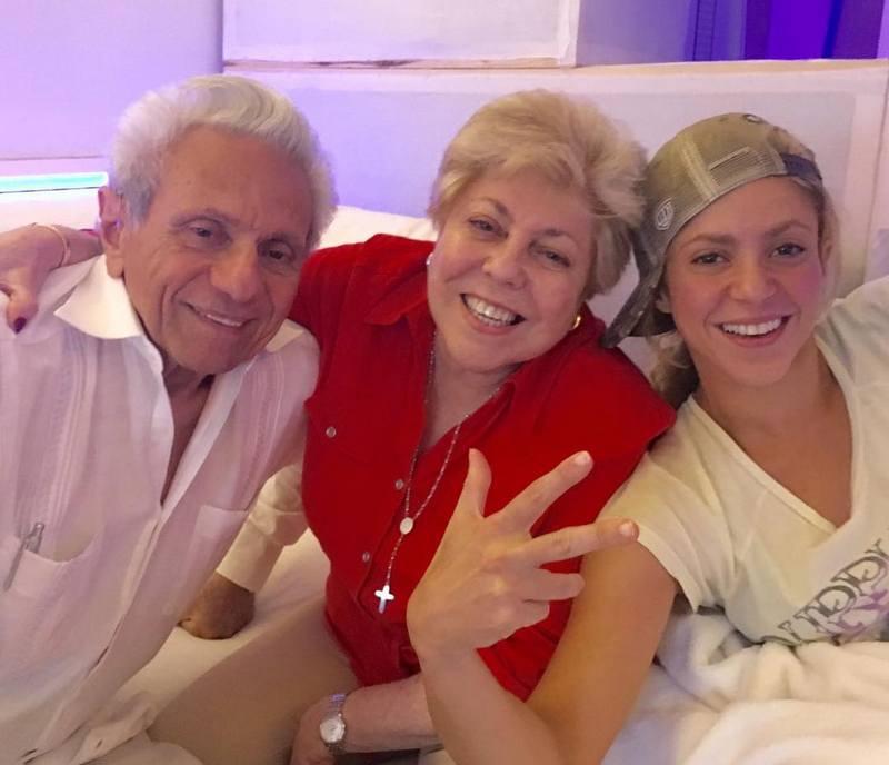 Shakira's family - mother Nidia del Carmen Ropili Torrado