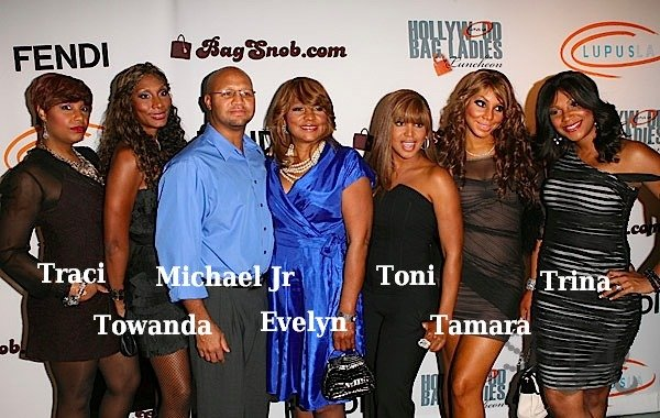 Toni Braxton's family - mother and 5 siblings