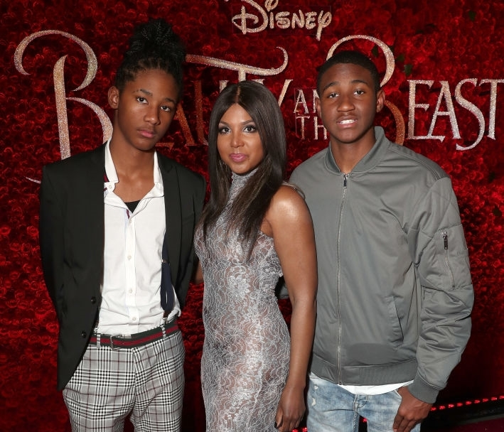 Toni Braxton's children - 2 sons