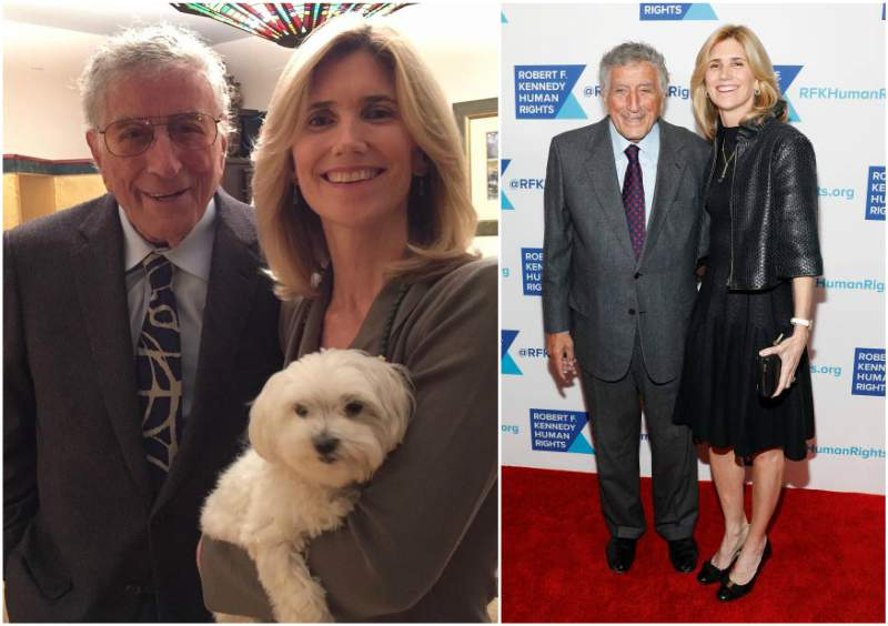 Tony Bennett's family - wife Susan Benedetto