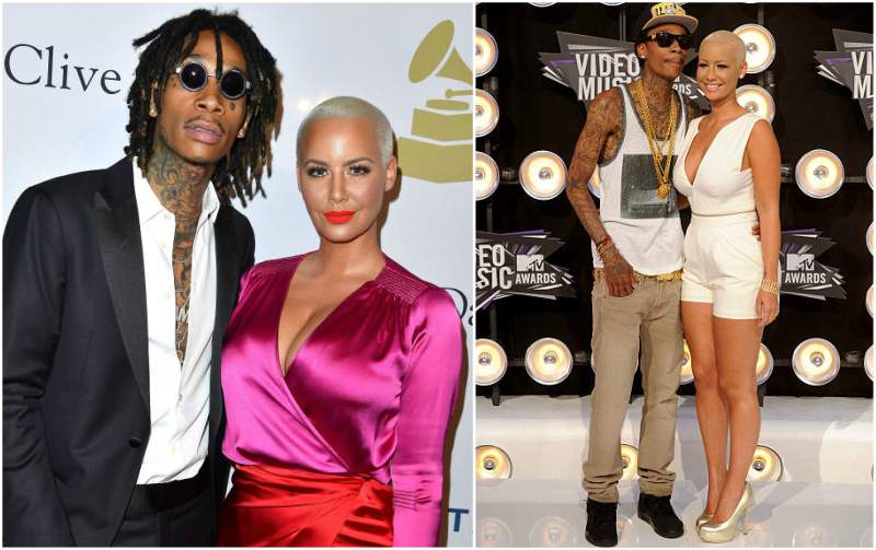 Amber Rose's family - ex-husband Wiz Khalifa