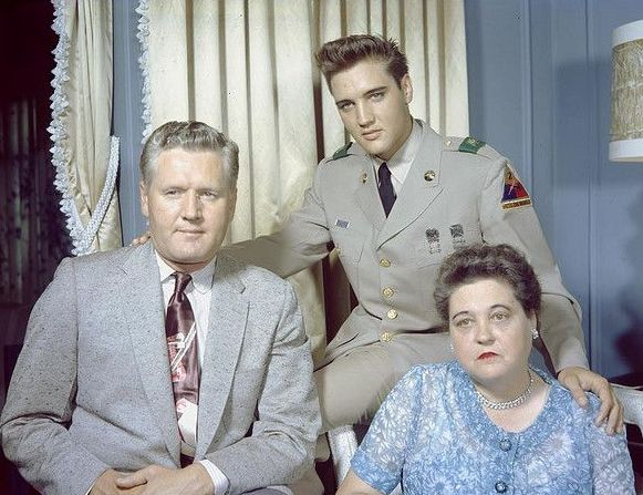 Elvis Presley's family - parents