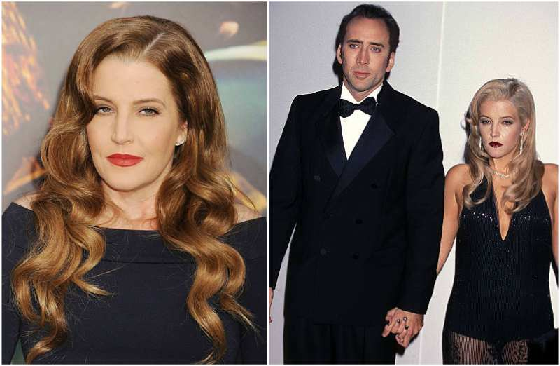 Nicholas Cage's family - ex-wife Lisa Marie Presley