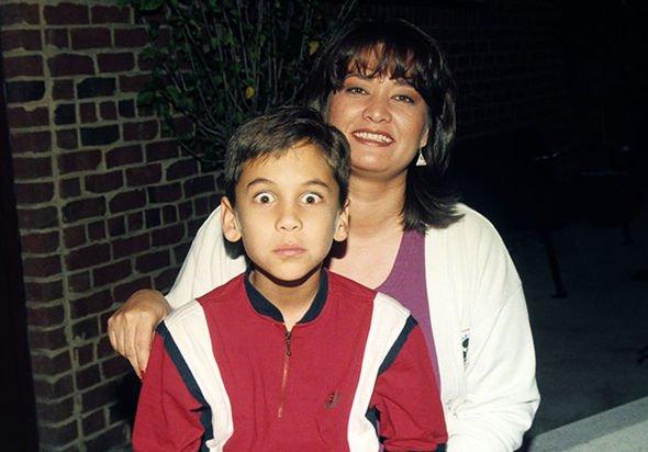Tom Jones' mistress Katherine Berkery with son