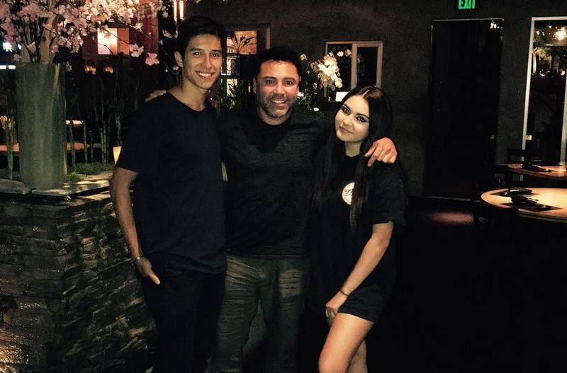 Oscar De La Hoya's children - son Jacob and daughter Atiana De La Hoya