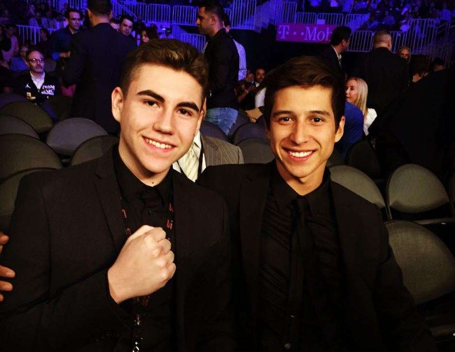 Oscar De La Hoya's children - sons Devon and Jacob De La Hoya