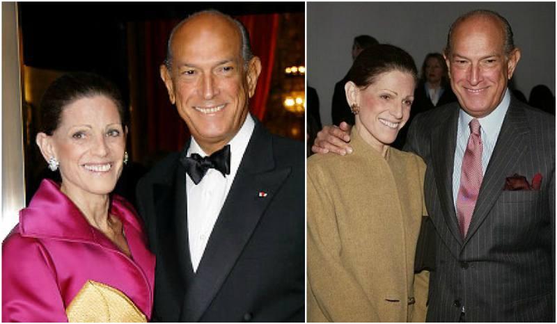 Oscar De La Renta's family - wife Annette de la Renta
