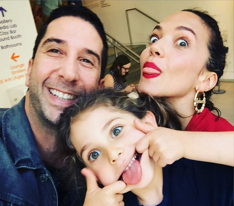 David Schwimmer's family - ex-wife and daughter