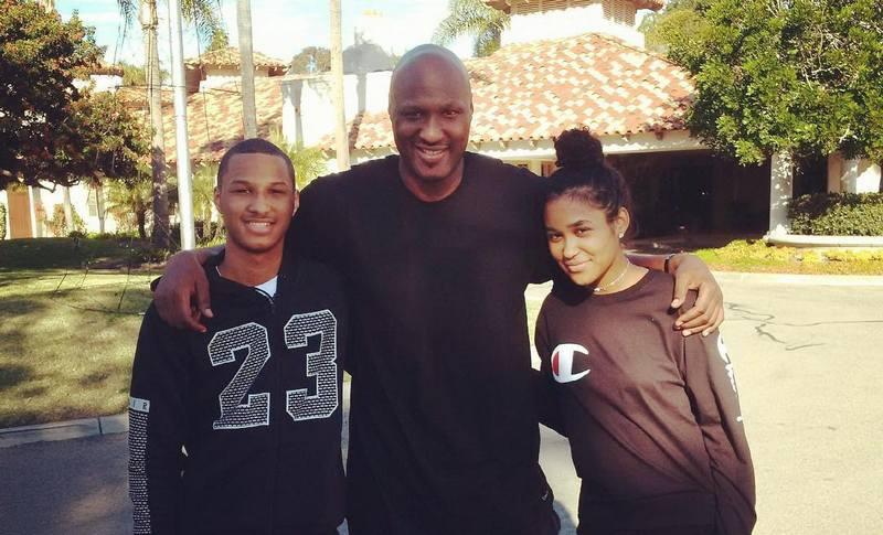 Khloe Kardashian's family - ex-husband Lamar Odom with kids