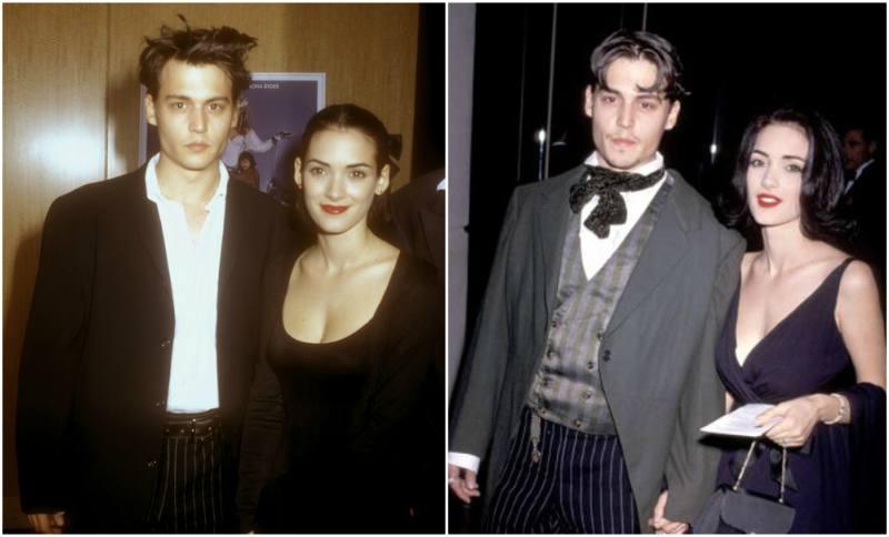 Winona Ryder's family - ex-boyfriend Johnny Depp