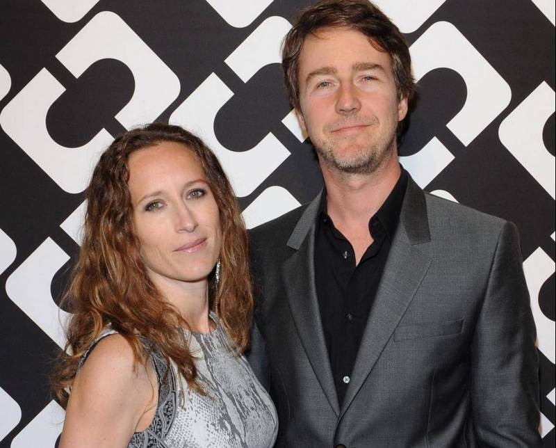 Edward Norton's family - wife Shauna Robertson