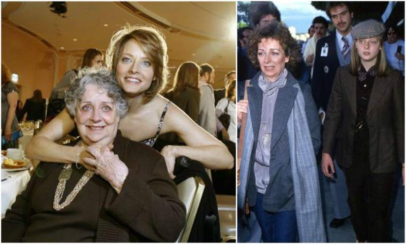 Jodie Foster's family - mother Evelyn 'Brandy' Ella Almond