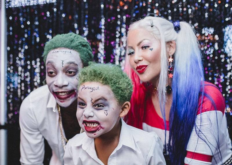 Wiz Khalifa's family - ex-wife Amber Rose and son