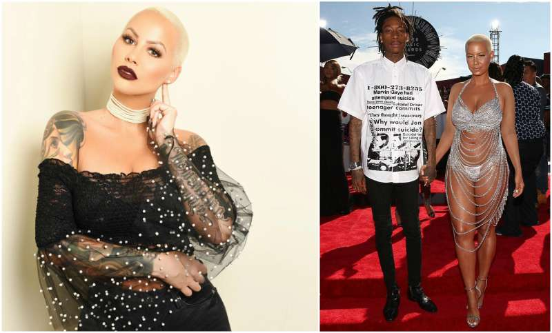 Wiz Khalifa's family - ex-wife Amber Rose