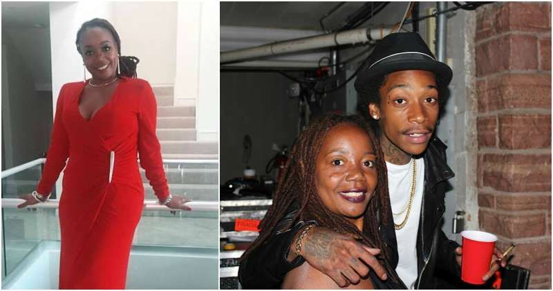 Wiz Khalifa's family - mother Peachie Wimbush-Polk