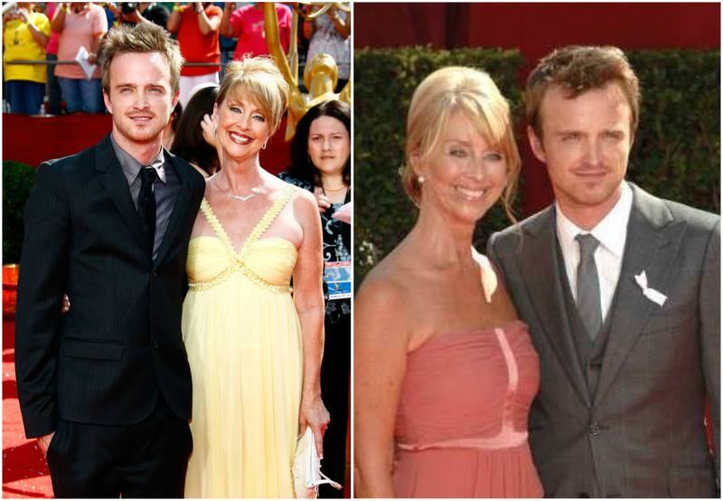 Photo of Aaron Paul  & his  Mother  Darla Sturtevant
