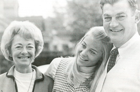 Cybill Shepherd's family - mother Patty Shobe Shepherd Micci and father William Jennings Shepherd Jr.