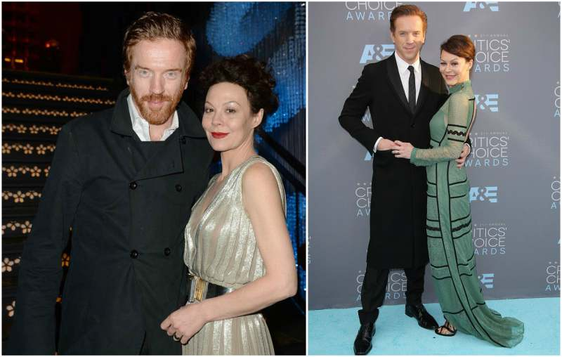 Damian Lewis' family - wife Helen McCrory