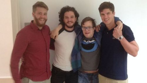 Kit Harington with brother Jack and cousins