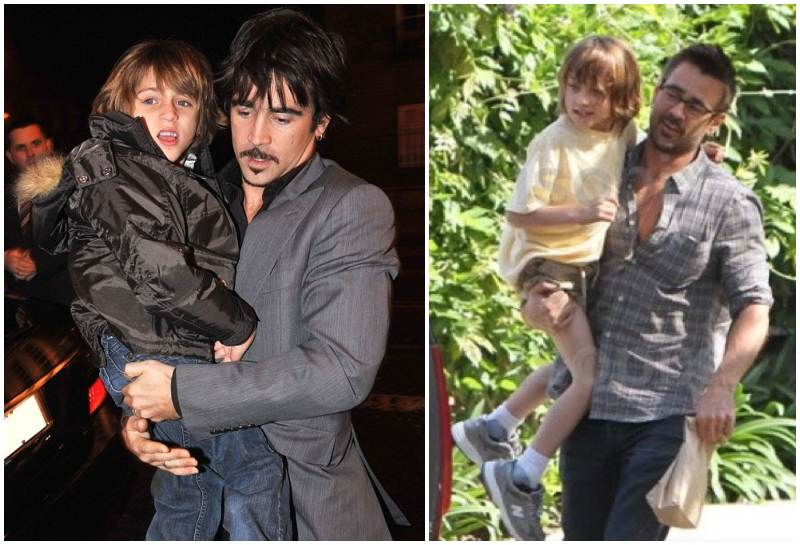 Photo of Colin Farrell & his Son James Padraig Farrell