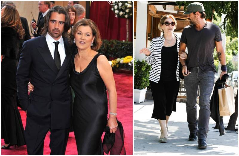Photo of Colin Farrell & his Mother Rita Monaghan