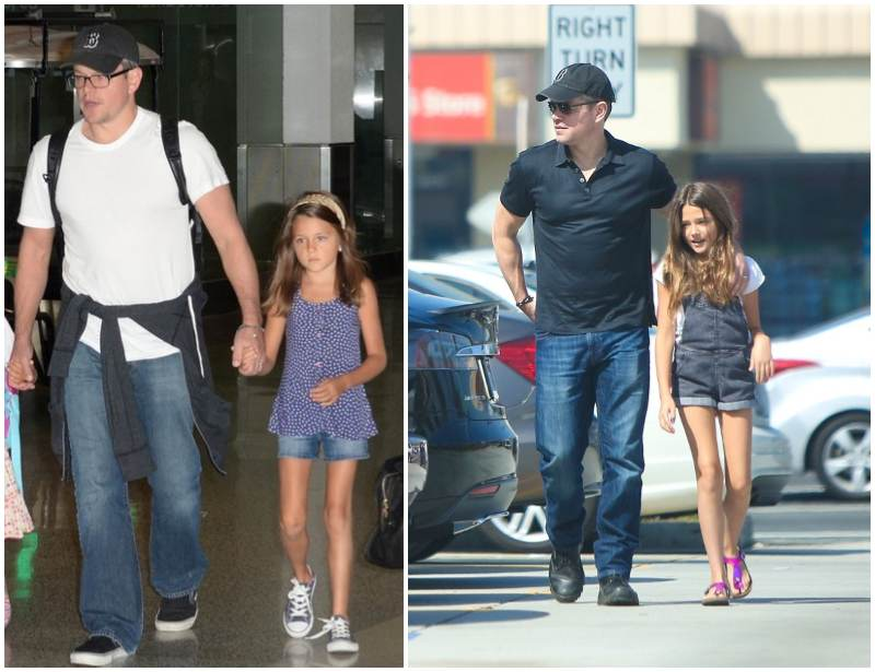 Matt Damon's children - daughter Isabella Damon