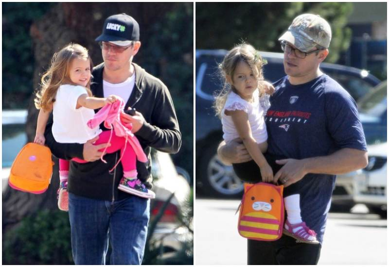 Matt Damon's children - daughter Stella Damon