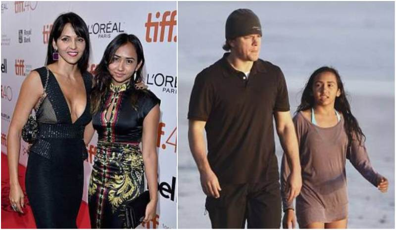 Matt Damon's children - step-daughter Alexia Barroso