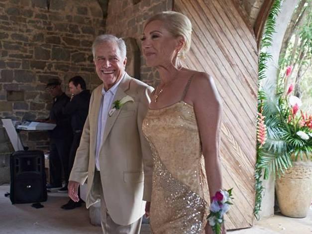 Matt Damon's family - father Kent Damon and step-mother Celeste Damon