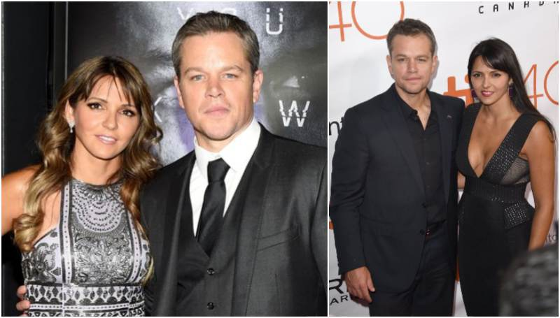Matt Damon's family - wife Luciana Barroso