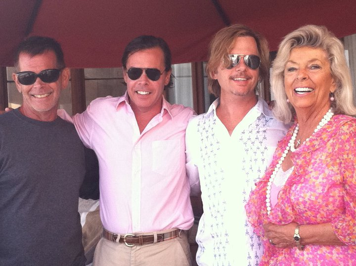 David Spade's family - mother Judith and brothers
