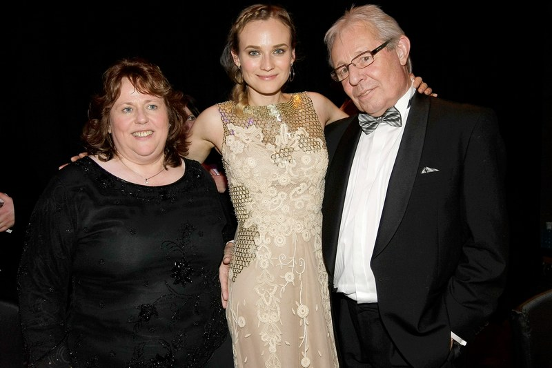 Diane Kruger's family - mother Maria-Theresa Heidkruger and stepfather Wolfgang Bieneck