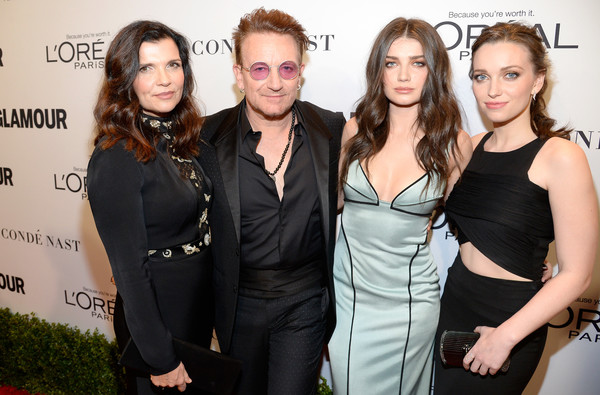 Bono's family - daughters and wife