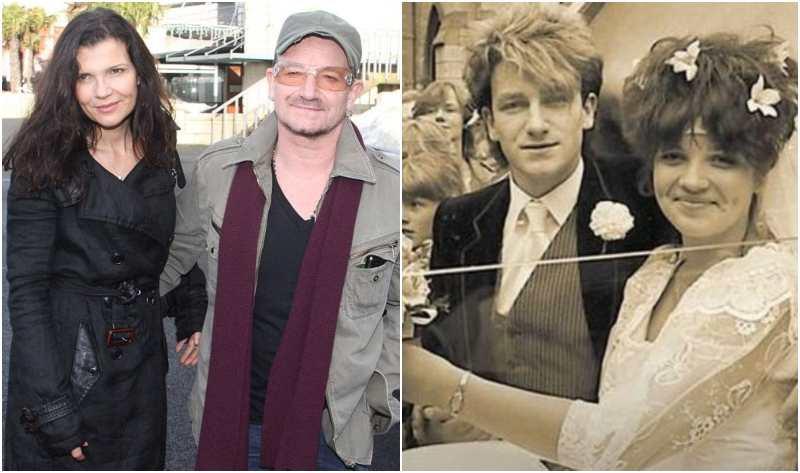 Bono's family - wife Alison Hewson