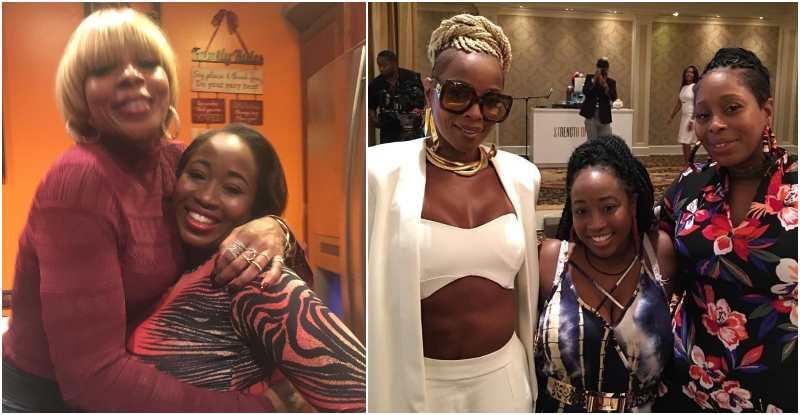 Mary J. Blige's siblings - maternal half-sister Jonquell Moet